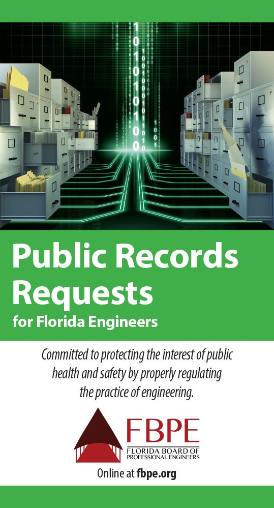Public Records Request for Florida Engineers