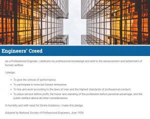 NSPE Engineers' Creed
