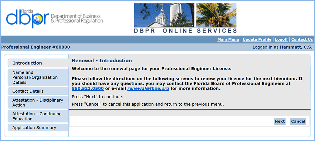 Licensure renewal step-by-step