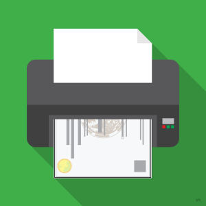 license printing illustration