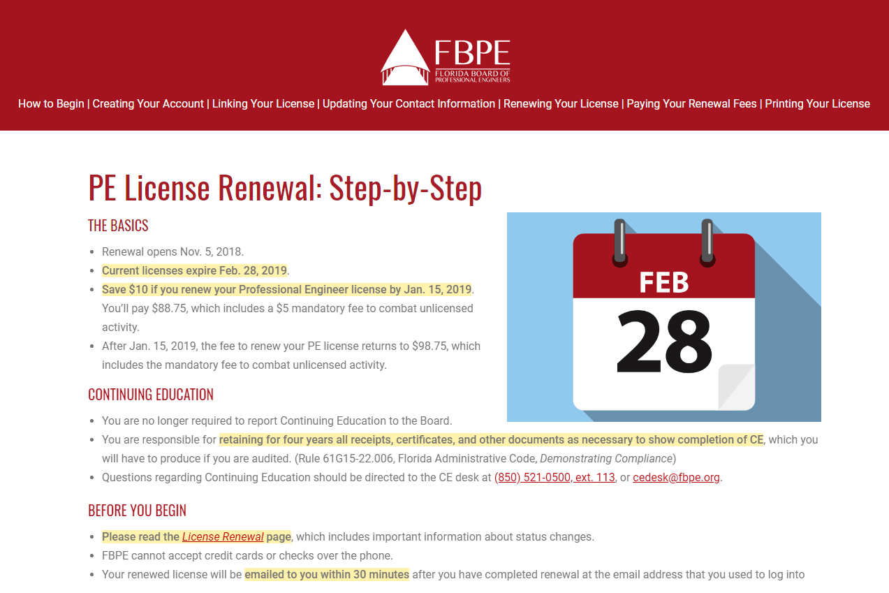 PE License Renewal: Step-by-Step