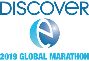 The DiscoverE logo with 2019 Global Marathon written below