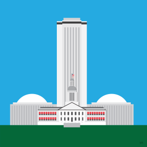 Illustration of the Florida Capitol Complex