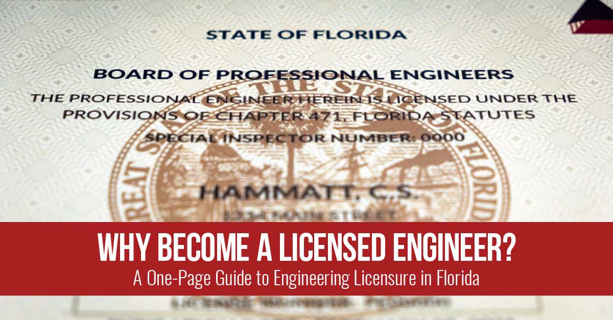 Why Become a Licensed Engineer? – Florida Board of