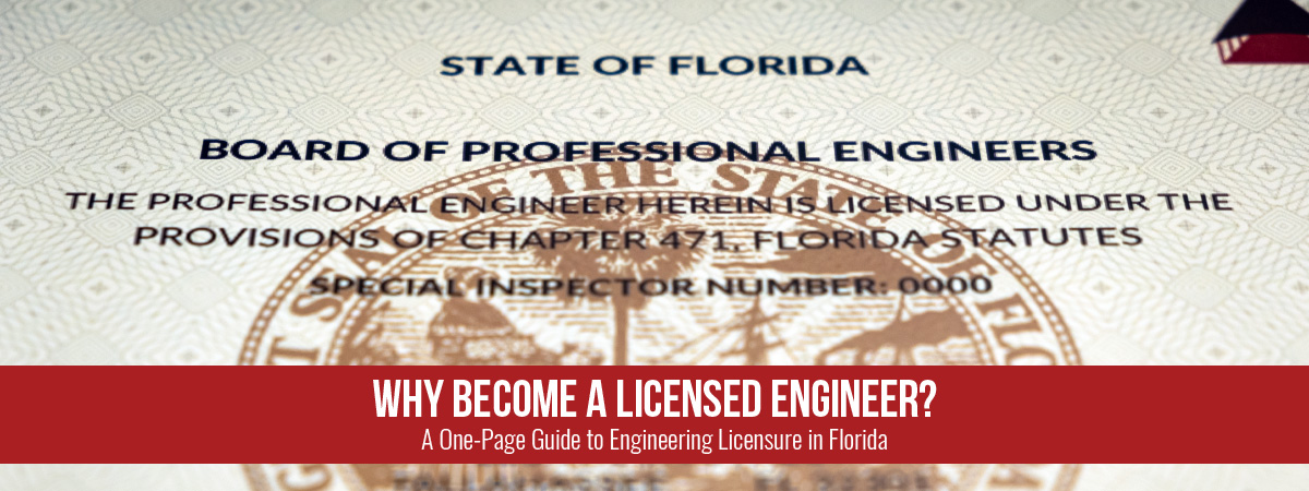 Why Become a Licensed Engineer?