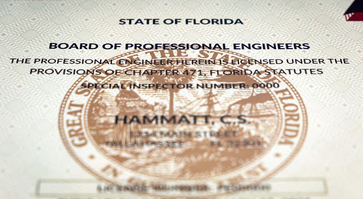 licensure  endorsement florida board  professional engineers