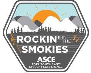 ASCE 2019 Southeast Student Conference: Rockin' in the Smokies badge