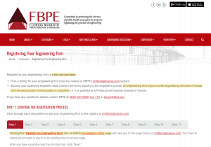 Registering Your Engineering Firm