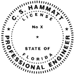 Example of a Florida licensed Professional Engineer's seal