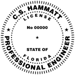 Example of a Florida Professional Engineer seal