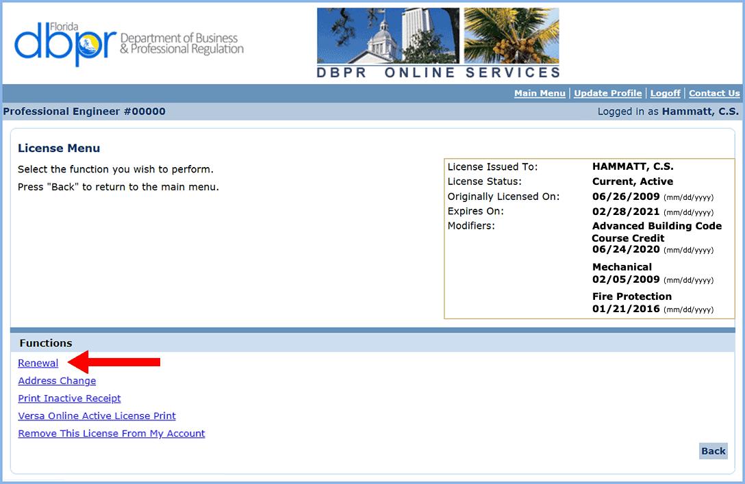 Licensure renewal step-by-step