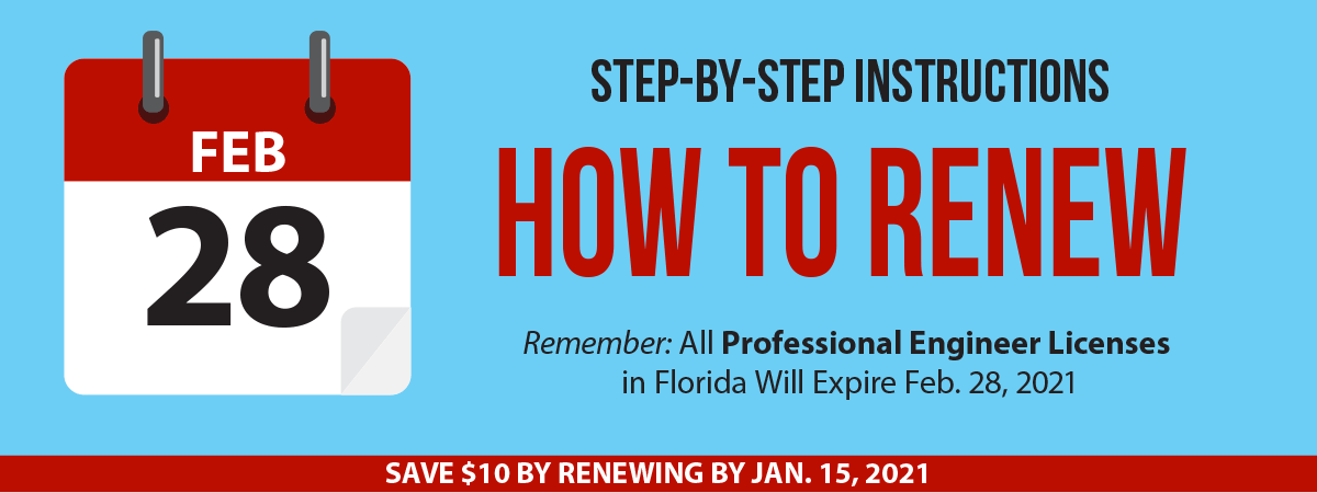Step-by-Step Instructions for How to Renew Your Professional Engineer License.