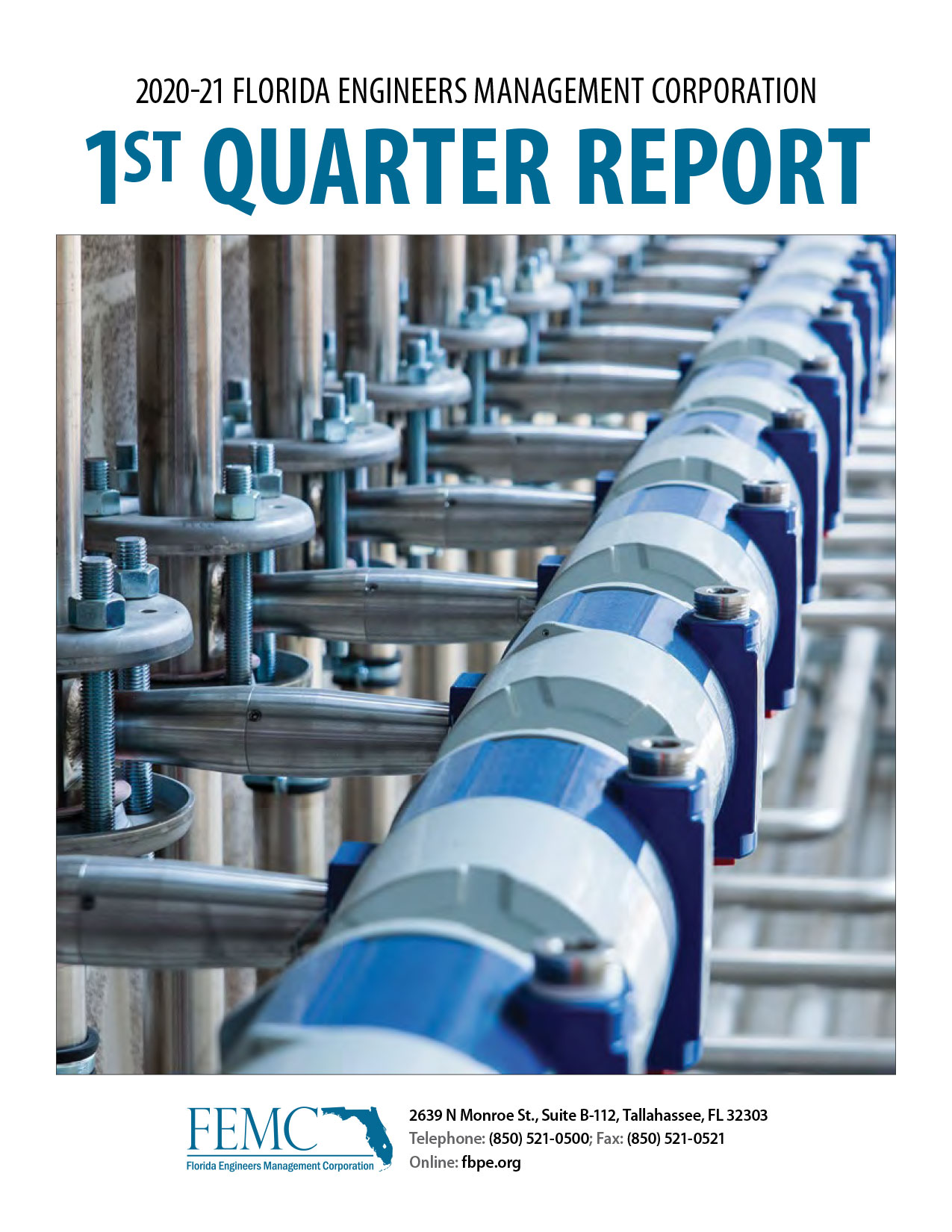 Cover of the 2020-21 Florida Engineers Management Corporation 1st Quarter Report